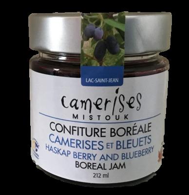 Confiture Boréale Camerises et Bleuets