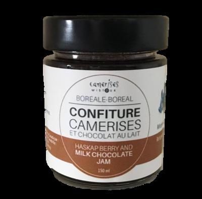 Confiture camerises et chocolat au lait