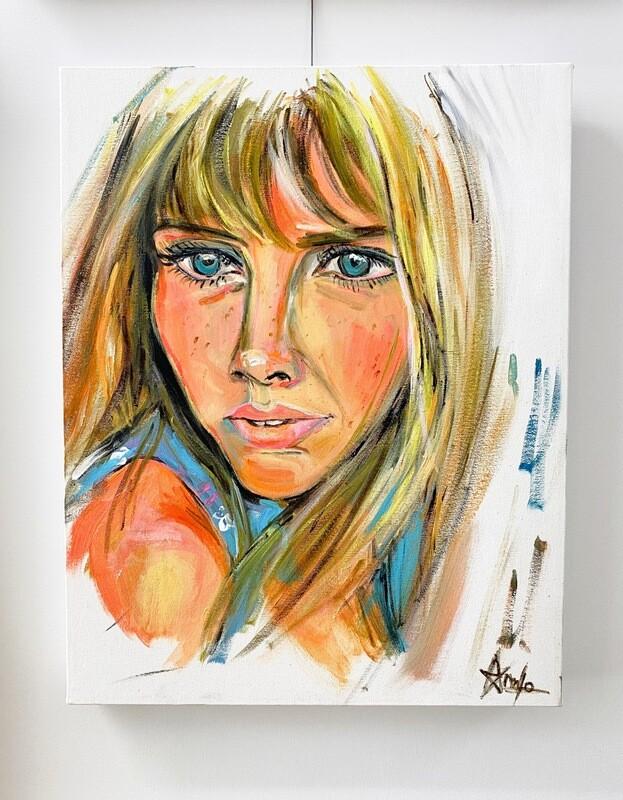 BRITT EKLAND portrait 14''x 20''  350.00$+tx