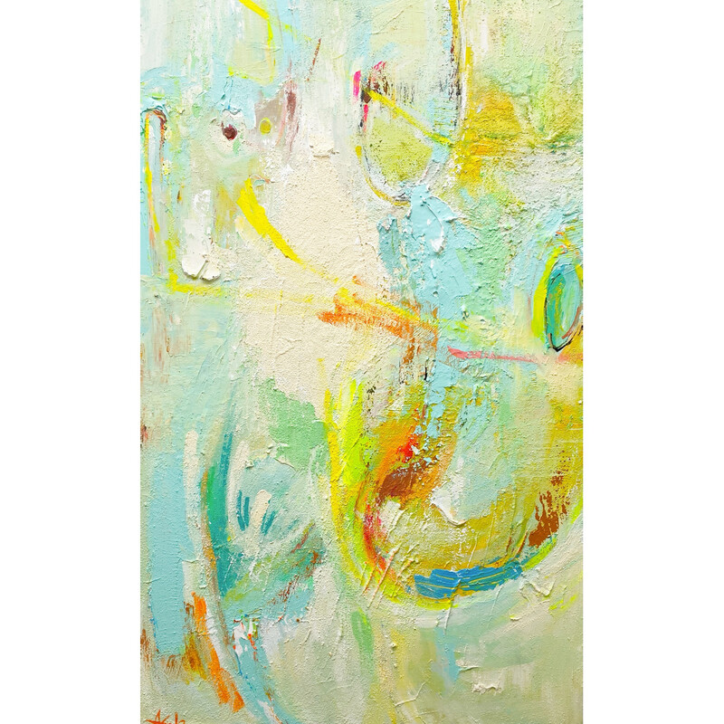 YELLOW CLOUDS (30''x 48'')