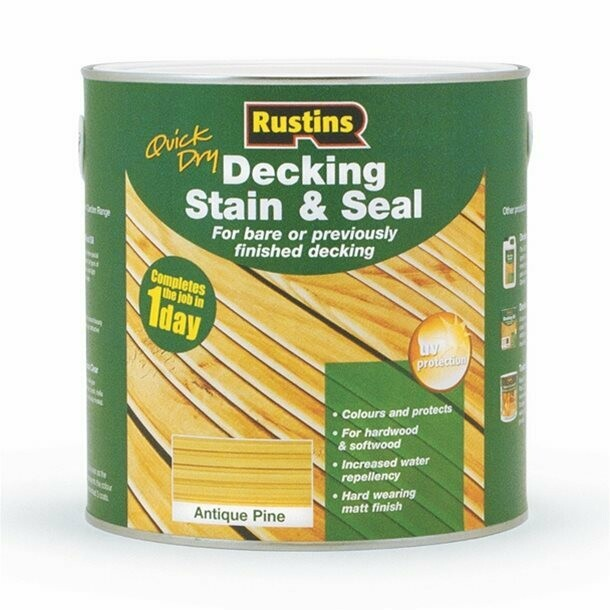 Quick Dry Decking Stain & Seal 2.5Ltr