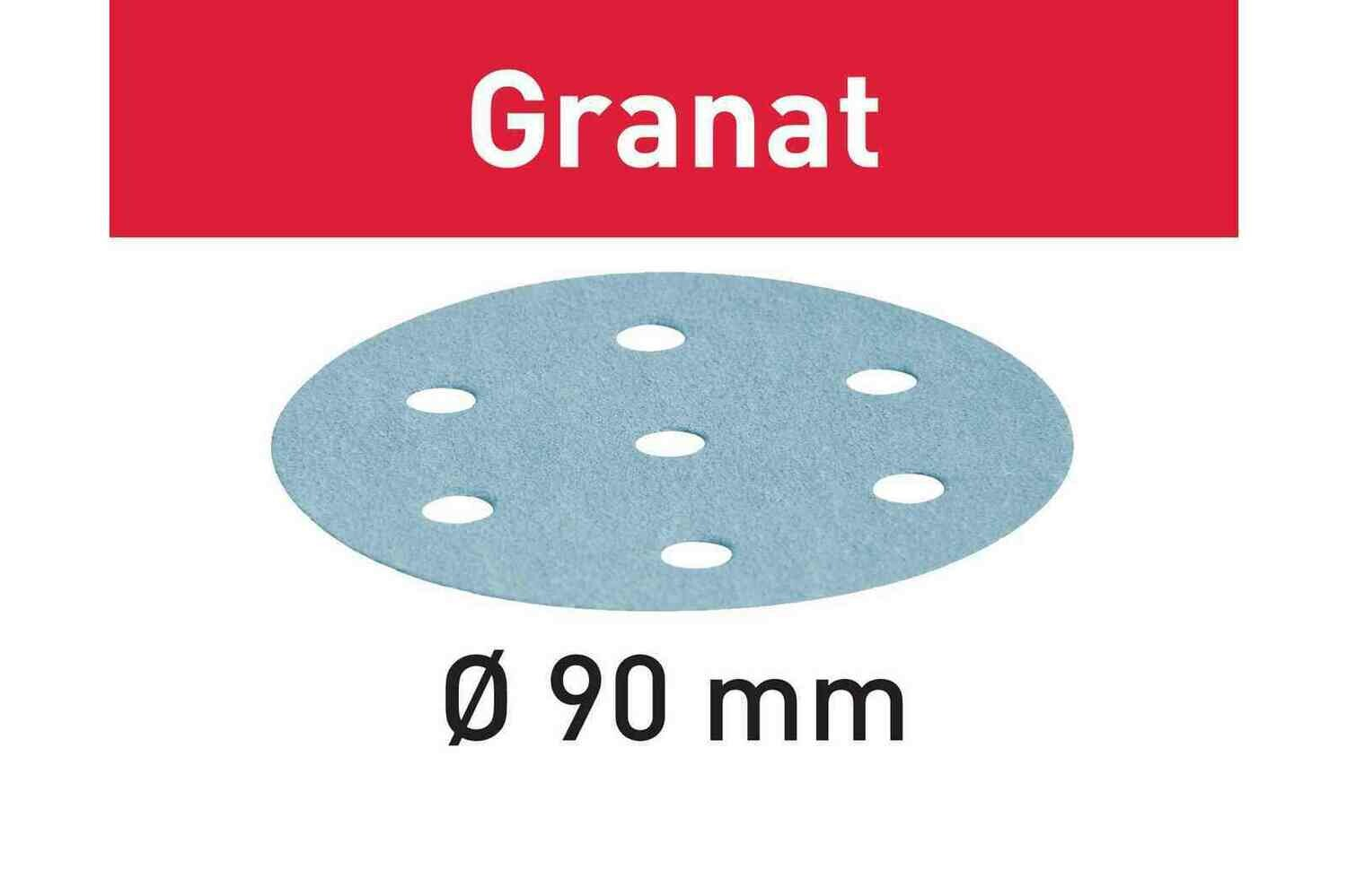 Abrasive sheet Granat STF D90/6 P80 GR/50 for RO 90 DX
