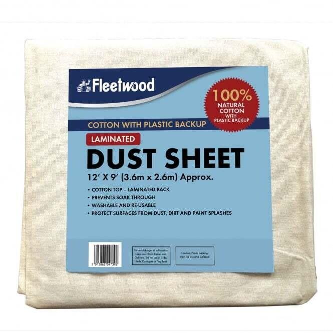 12'x9' Laminated Cotton Dust Sheet