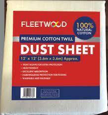 12' X 12' Premier Cotton Dust Sheet