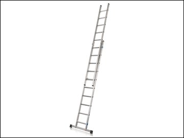 Industrial Extension Ladder With Stabilser Bar 2-Part D Rungs 2 x 8