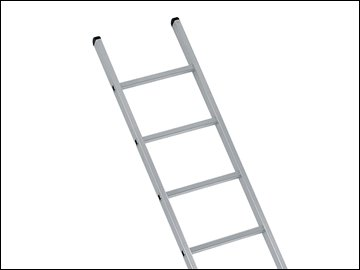 ndustrial Single Aluminium Ladder With Stabilser Bar 3.05m 10 Rungs