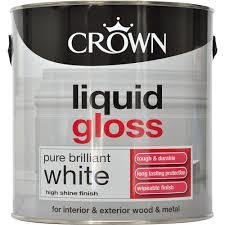Crown Liquid Gloss Brilliant White Paint