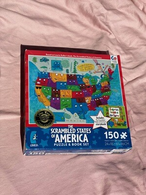 The Scrambled States of America 150 Piece Jigsaw Puzzle
