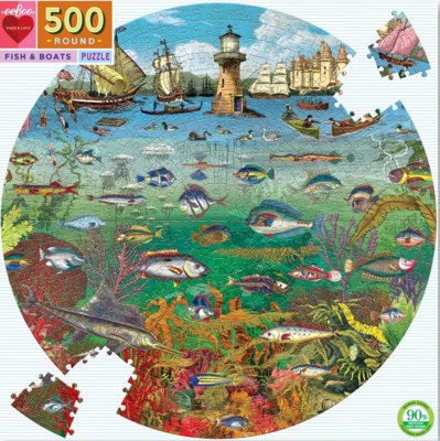 Eebo 500 Piece Round Jigsaw Puzzles - Click for Choices of Puzzles