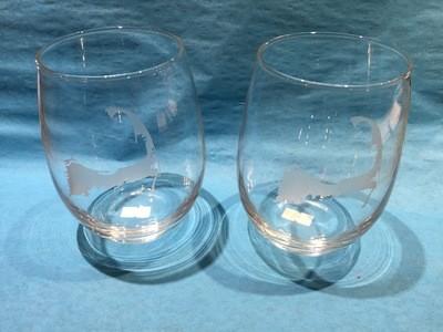 Cape Cod Stemless 21 Oz. Wine Glasses -Set of 4