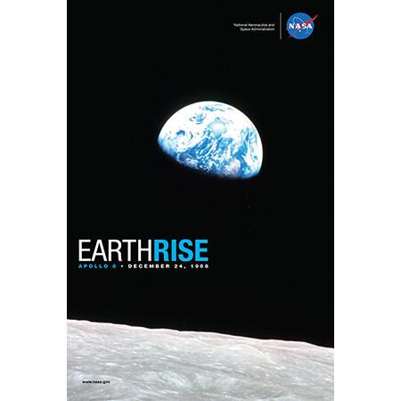 NASA Earth Rise Print