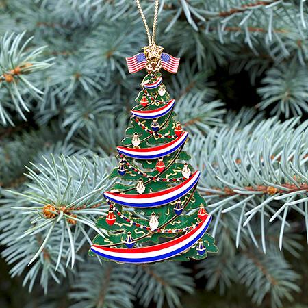 Classic Patriotic Christmas Tree
