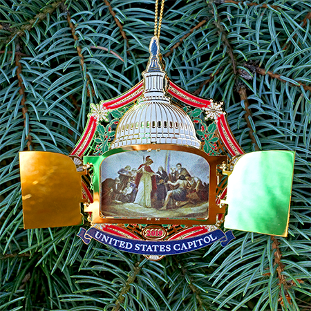 2019 US Capitol Hinged Door and Mural Ornament