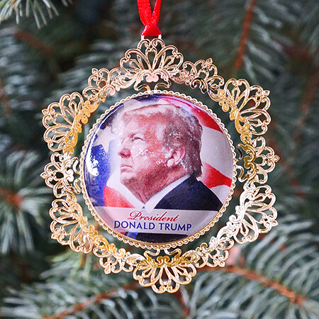 2019 White House Donald Trump Cameo Ornament