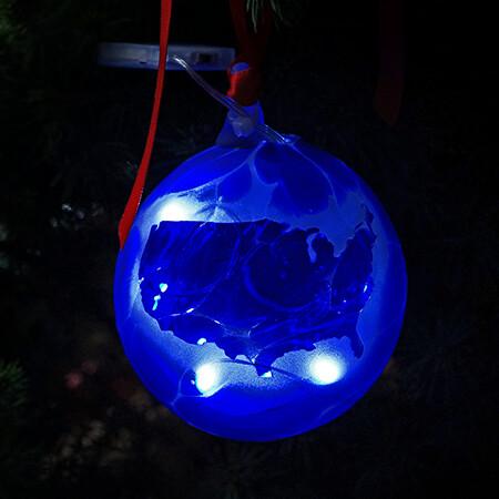 American Union Spirit Glass LED Ornament