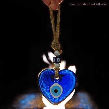 Hanging Glass Eye Heart
