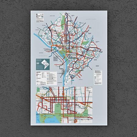 Washington DC Metrobus System Map