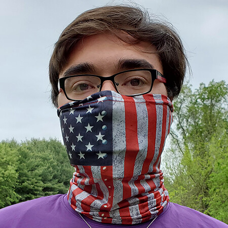 American Flag Neck Gator Mask