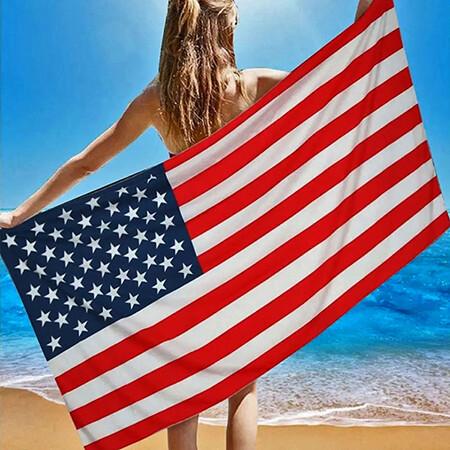 USA American Flag Beach Towel