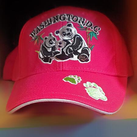 Washington DC Pink Panda Baseball Cap