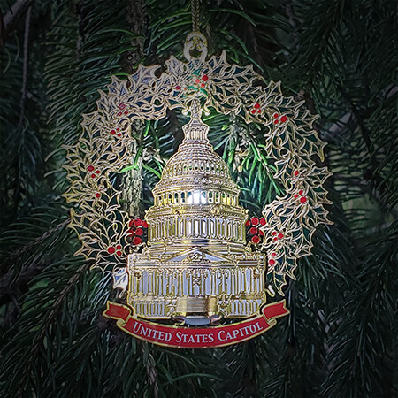 2020 Capitol Lighted Dome Holiday Ornament
