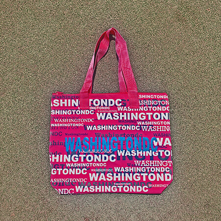 Pink Washington DC Tote Bag