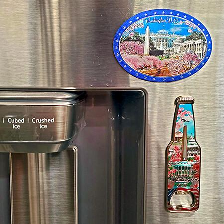 Washington DC Magnet Bottle Opener and Cameo Set