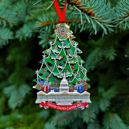 2021 Marble Capitol Christmas Tree Ornament