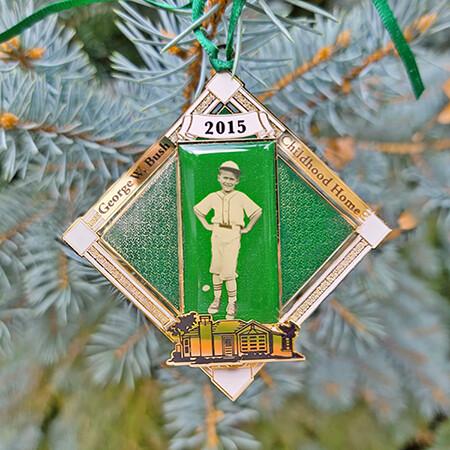 2015 George W Bush Baseball Ornament