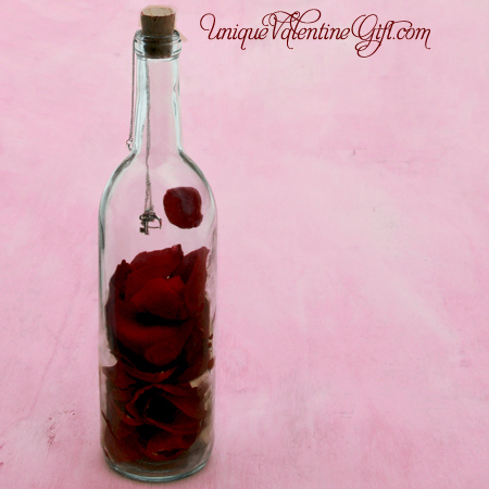 Valentine's Day - Key to My Heart Message In A Bottle