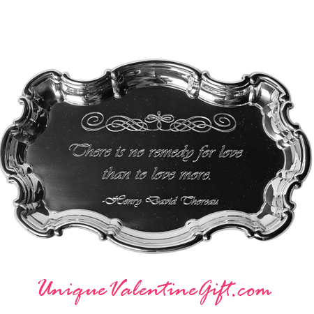 "Chippendale 9"" Tray with Love Quote"