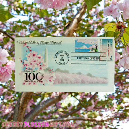 Gifts - Cherry Blossoms - 100 Year First Day of Issue Envelope