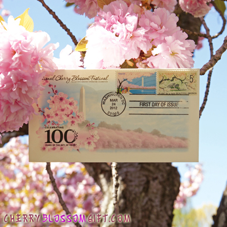 Gifts - Cherry Blossoms - First Day of Issue Stamp