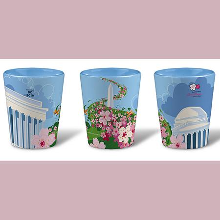 2016 National Cherry Blossom Festival Ceramic Shot Glass