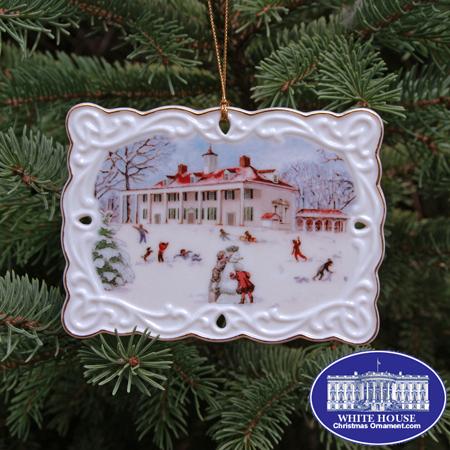 Ornaments - Mount Vernon 2007 Porcelain Postcard