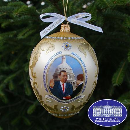 Ornaments - Glass - Barack Obama 2009 Commemorative