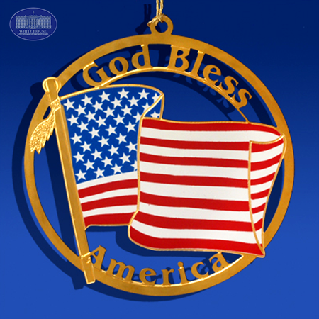 Ornaments - God Bless America Flag