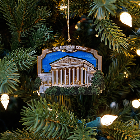 2015 Supreme Court Angled Building Ornament