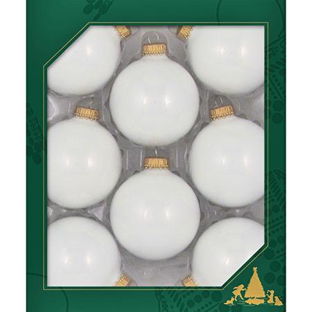2 5/8 in Porcelain White Glass Ball Ornament Case