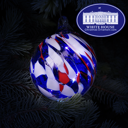 Patriotic Glass Fairy Ball Ornament
