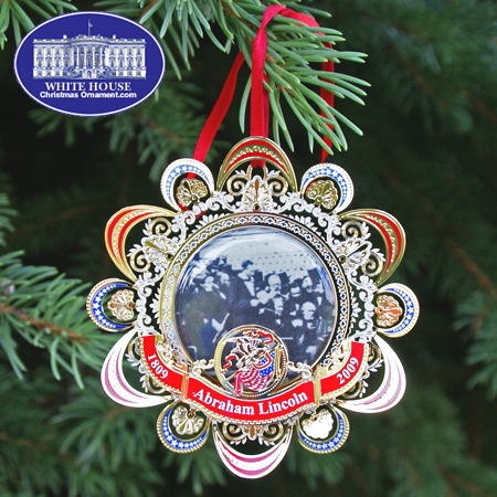 2008 US Capitol Abraham Lincoln's Second Inaugural Address Ornament