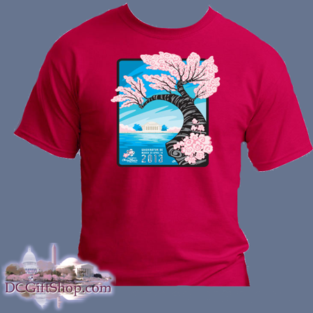 Cherry Blossoms - 2013 Festival T-Shirt (Red)