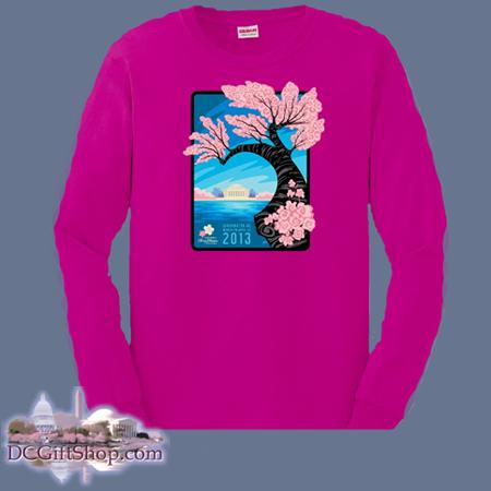 Cherry Blossoms - 2013 Festival Long Sleeve Shirt (Red)