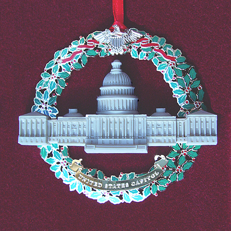 Ornaments - US Capitol 2003 Marble And Wreath