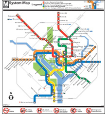 Gifts - Maps - Metro System Map Poster