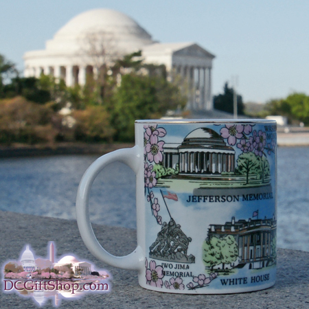Gifts - Mug - Washington DC Memorials/Cherry Blossom