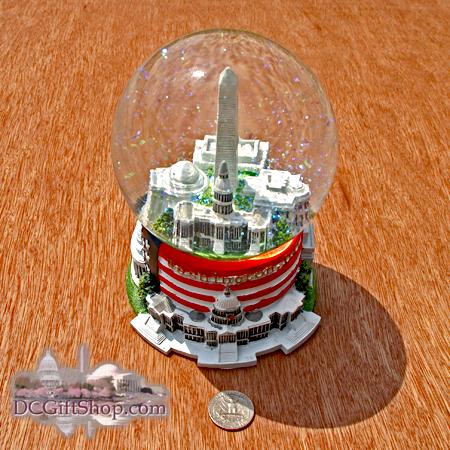 Gifts - Decorative - Large Washington DC Musical Snow Globe
