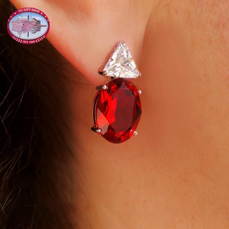 Carmen Lucia Ruby Earrings