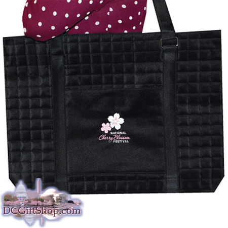 Gifts - Cherry Blossoms - Embroidered Quilted Bag
