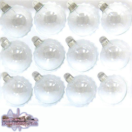 Ornaments - Glass - Clear Glass Set (60)